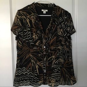 Cato Button Front Blouse